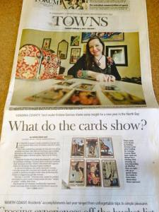 tarot tattoo art press democrat sonoma county kristine gorman