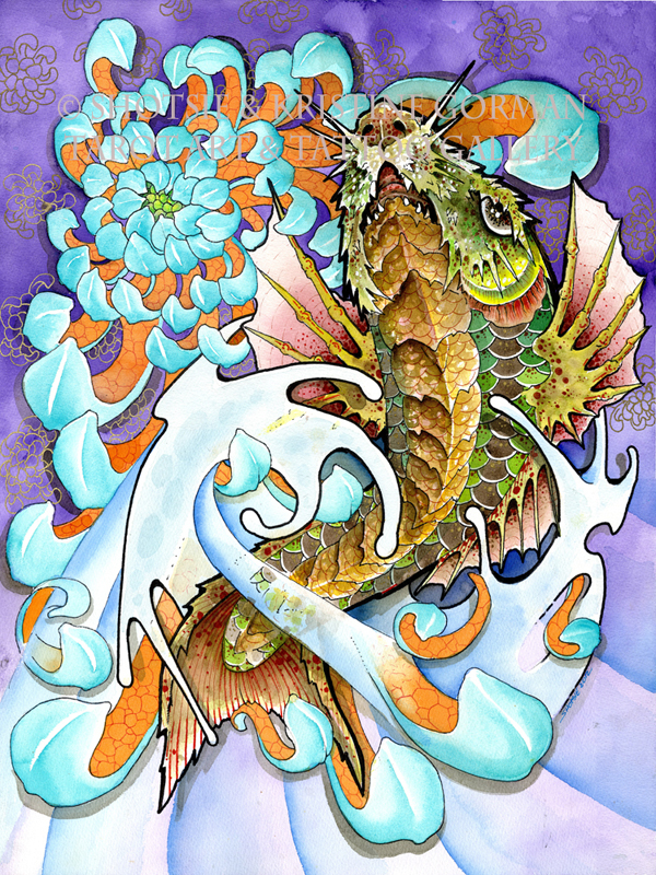 Koi transforms into dragon t a t gallery for Dragon koi for sale