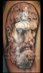 Tattoo Portrait of Epicurus by Shotsie