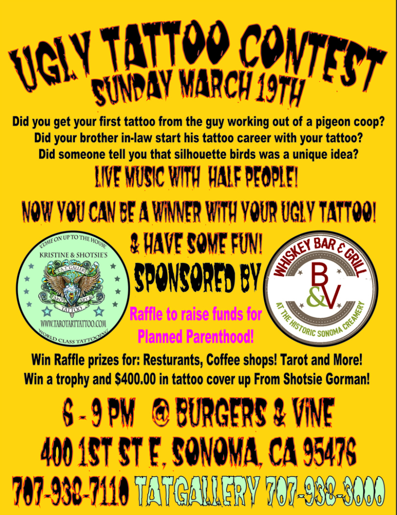 ugly tattoo contest sonoma