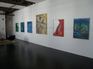 gallery exhibit of Kristine's paintings