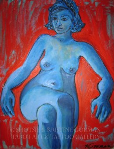 Blue girl krisine gorman painting