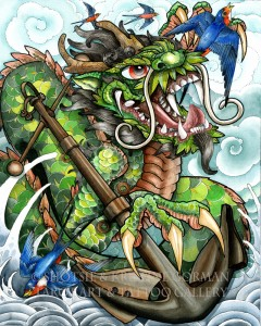 Dragon anchor shotsie gorman  watercolor