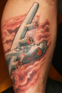 1940's b24 bomber tattoo Shotsie Gorman
